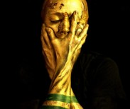 Emma Allen,  Self Portrait as the World Cup Trophy , 2014. Image courtesy of the artist.