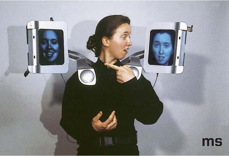Krzysztof Wodiczko, Aegis: Equipment for a City of Strangers, 1998. Courtesy Muzeum Sztuki in Lodz.