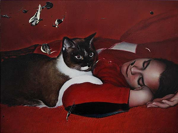 "Maxwell Stevens ""Evening"" 2014.  Oil on wood, 12 x 16 in / 30.5 x 41 cm."