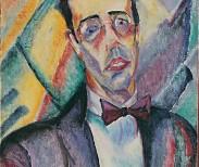 """""""Antropofagia y Modernidad. Arte Brasileño en la Colección Fadel"""".  Anita Malfatti Retrato Mário de Andrade, 1922 Óleo sobre tela 51 x 44 cm 76.5 x 69 x 6 cm Exhibition organized by MALBA, Museum of Latin American Art of Buenos Aires."""