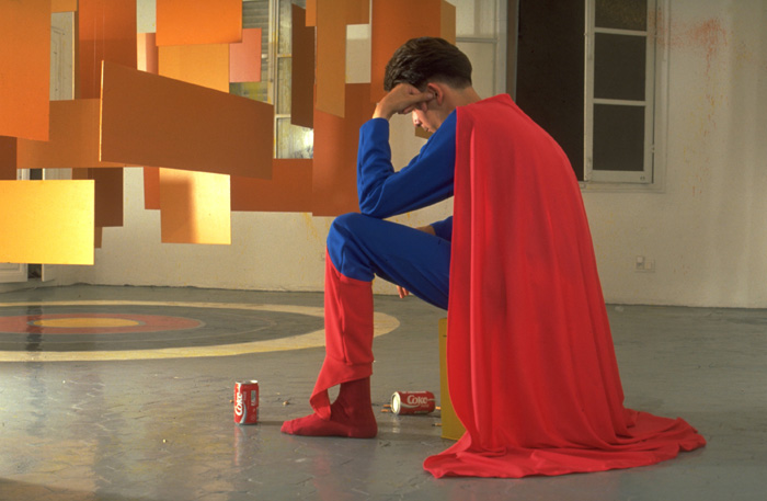 Pierre Joseph  Character to Be Reactivated (Superman), 1992 Cibachrome print  90  × 60 cm   Courtesy of the artist and Air de Paris, Paris.