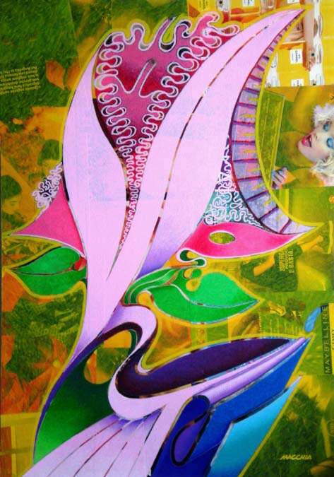 Creative nature, acrylic on advertising and canvas. 100cmx70cm. 2012