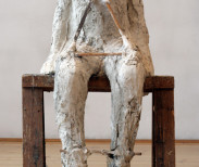 Abakanowicz, Plaster Body 5, 1987, plaster and wood 5475x295x2 5in, non 49-968