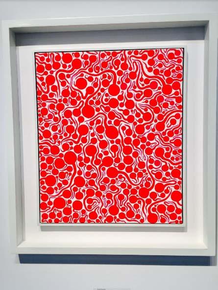 Yayoi Kusama, Flame, 1990, Acrylic on canvas 45.5 x 38.0 cm