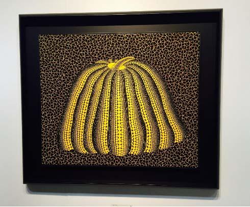 Yayoi Kusama, Pumpkin, 1992. Acrylic on canvas 60.6 x 72.7 cm