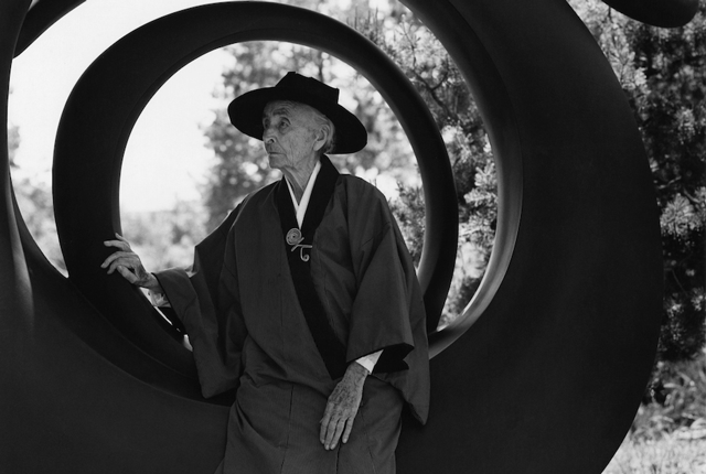 1984 Georgia O'Keeffe portrait by Bruce Weber. Image credit: Bruce Weber and Nan Bush Collection, New York. Bruce Weber/Courtesy of the Brooklyn Museum.