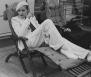 Paul Cwojdzinski  Marlene Dietrich on the SS Europa, 1933, Cherbourg, France by Paul Cwojdzinski, photograph, 1933.  Deutsche Kinemathek - Marlene Dietrich Collection Berlin