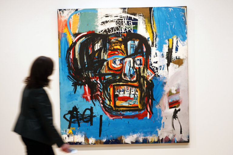 """Untitled,"" a Basquiat painting from 1982, sold for $110.5 million at Sotheby's auction on Thursday night. Credit 2017 The Estate of Jean-Michel Basquiat / ADAGP, Paris / ARS, via Sotheby's"