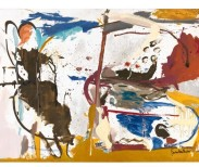 First Creatures, 1959, huile, émail, fusain, et crayon sur lin, 164,5 × 281,9 cm © 2017 Helen Frankenthaler Foundation, Inc./Artists Rights Society (ARS), New York. Photo par Rob McKeever.